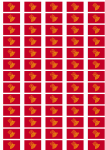 Languedoc-Roussillon Flag Stickers - 65 per sheet
